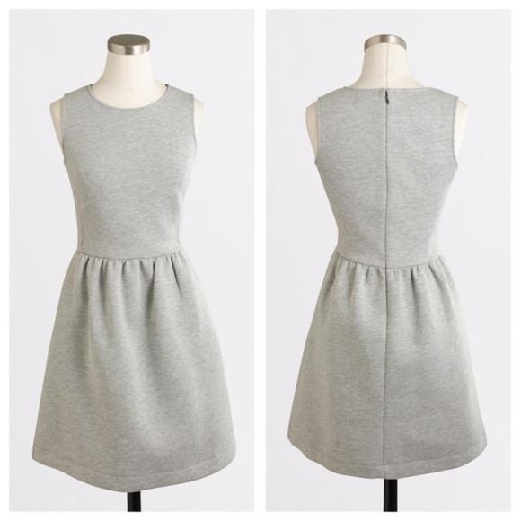 8bca78b1728 J. Crew Factory Dresses   Skirts - J Crew Gray Neoprene Pleated Fit   Flare